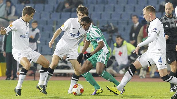 мисиджан, лудогорец - черноморец одеса 1-1 лига европа ноември 2013