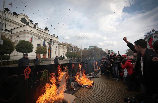 Протест пред НС