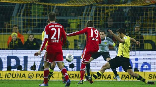 гьотце бележи на дортмунд, 0-3 за байерн, ноември 2013
