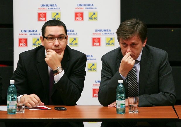Виктор Понта и Крин Антонеску