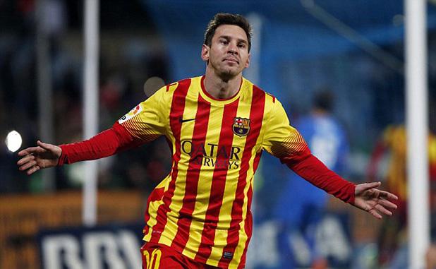 меси с два гола при 0-2 на хетафе за купата - януари 2014