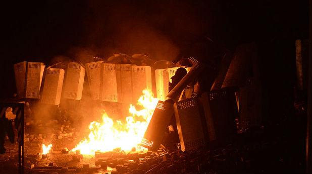 Сблъсъци на протест в Киев