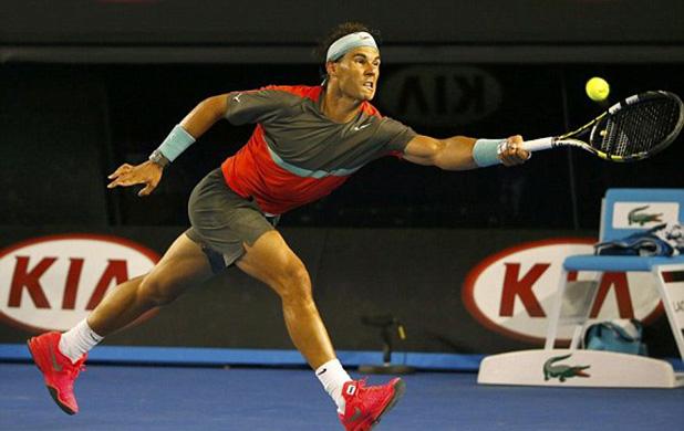 рафаел надал печели полуфинала на АО срещу Федерер 2014