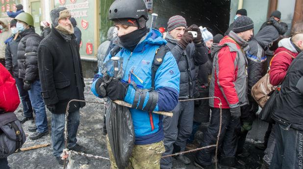 бой, Киев, Майдан