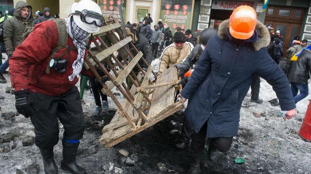 барикади, Киев, Украйна