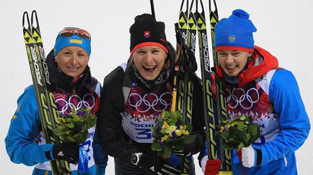 кузмина олимпийска на 7.5 км преследване в Сочи
