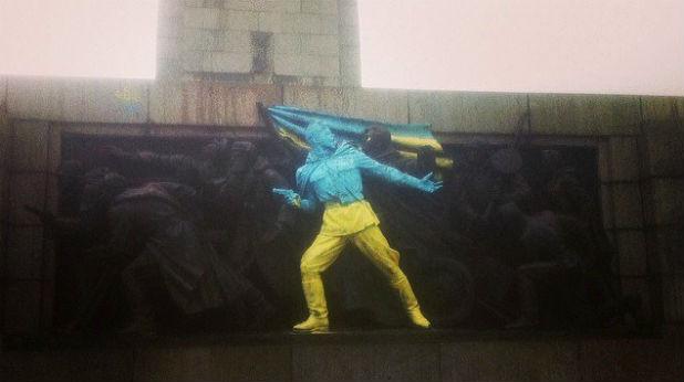 Изрисуваният Паметник на съветската армия