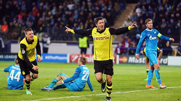 левандовски с два гола при 4-2 като гост на зенит