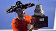 Григор с купата в Акапулко