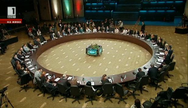Среща на правителството с медиите, кръгла маса