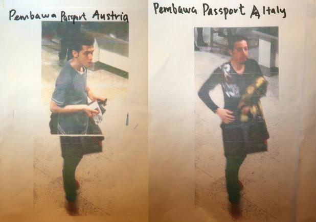 Снимка от камерите на летището на иранците с фалшиви паспорти