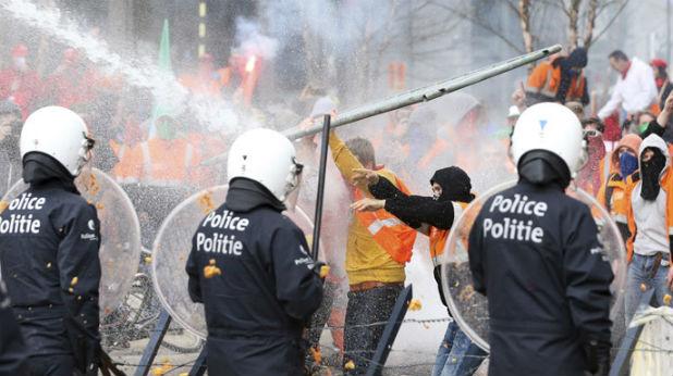 Брюксел, протести