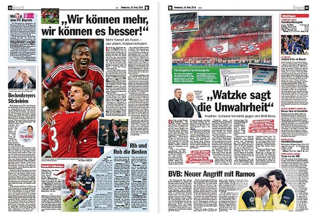 немската преса след байерн - юнайтед 3-1