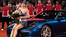 шарапова печели турнира в щутгарт през 2014 и обещава поршето на григор