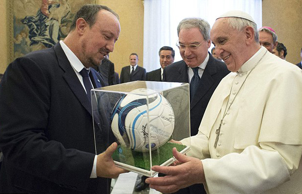 Бенитес и папа Франциск