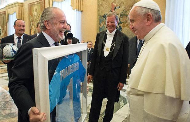 Ди Лаурентис и папа Франциск
