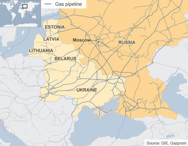 Газопроводи Русия - Украйна