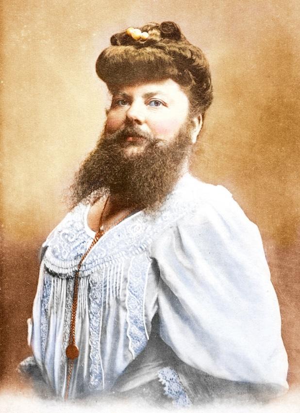 жена с брада