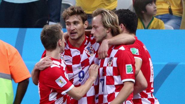 хърватия, радост след първия гол на мондиала