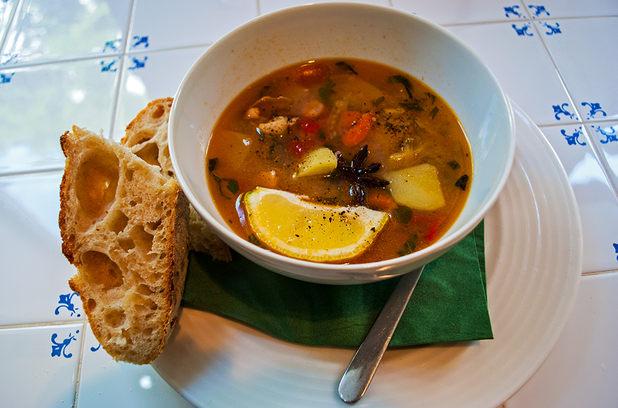 супа с морски дарове