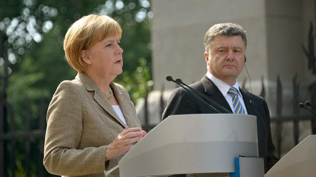 ангела меркел и петро порошенко