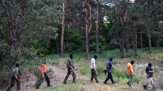 Бойци на проруските милиции в Украйна