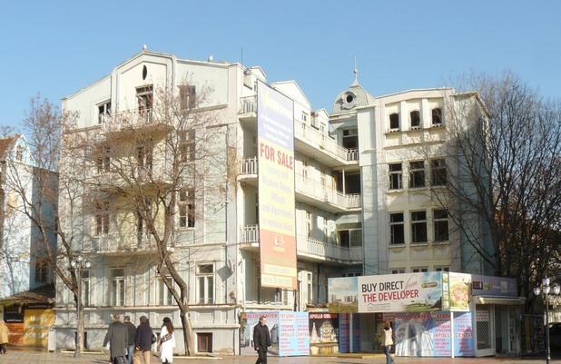 """Гранд хотел """"Империал"""" на пл. """"Независимост"""", проект на инж. Йосиф Х. Стоянов от 1932 г."""