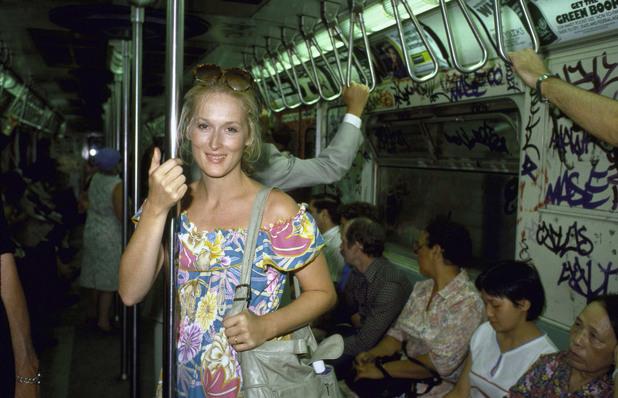 Мерил Стрийп в метрото