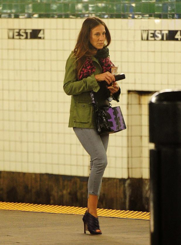 Сара Джесика Паркар също използва метрото понякога