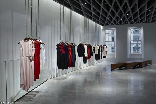 Интериорът на бутика