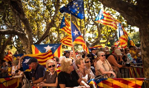 Протест за независимост на Каталуния от Испания