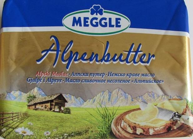 Краве масло Meggle в тест за съдържание на немлечни мазнини