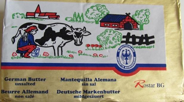 краве масло rostar в тест за съдържание на немлечни мазнини