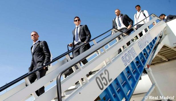 отборът на реал мадрид пристига в софия