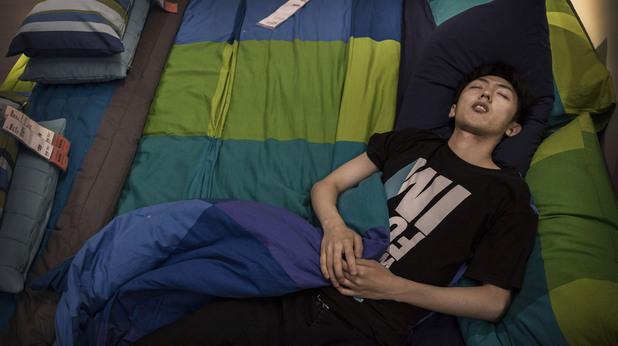 Хора спят в Ikea