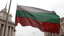 Българския флаг на площад Независимост