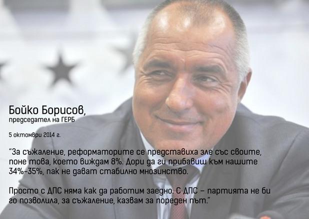 председателят на герб бойко борисов след парламентарните избори на 5 октомври