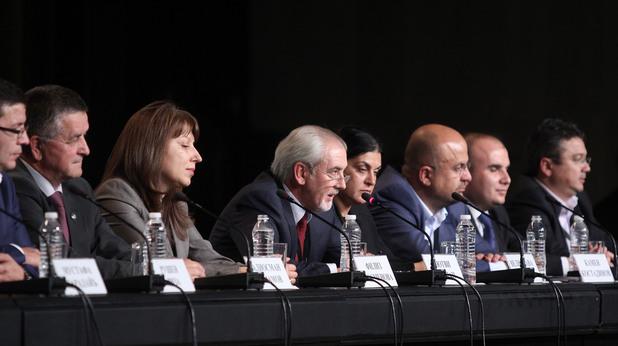 Пресконференцията на ДПС в НДК след обявяване на първите изборни резултати
