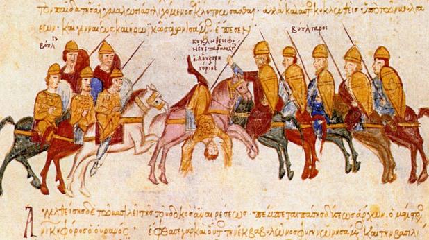 Българската армия на Самуил разгромява византийските войски край Солун (996) и убива дук Григорий