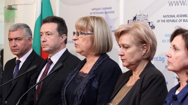 пресконференция след първия кръг преговори между герб и бсп