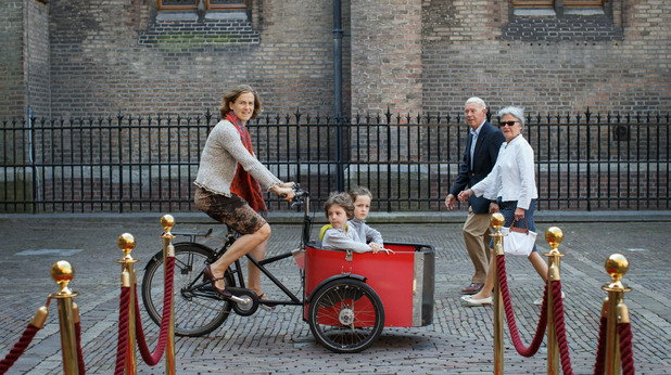 Майка с деца в Холандия