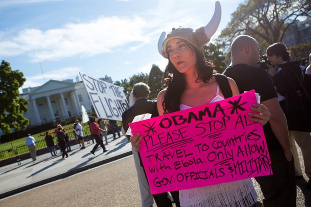 Протест срещу ебола в САЩ
