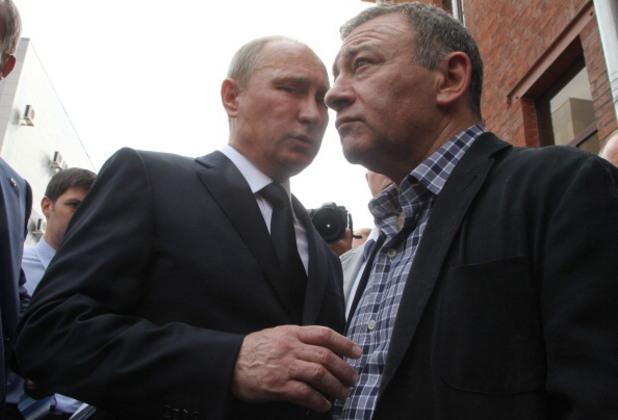 владимир путин в компанията на руския милиардер аркадий ротенберг