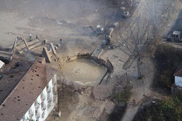мястото на взривения газопровод в Лудвигсхафен