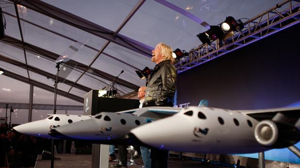 Ричърд Брансън и Virgin SpaceShipTwo