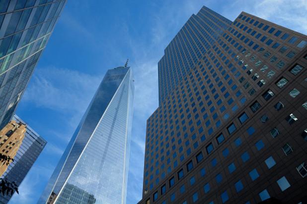 Изгледът в основата на новият небостъргач