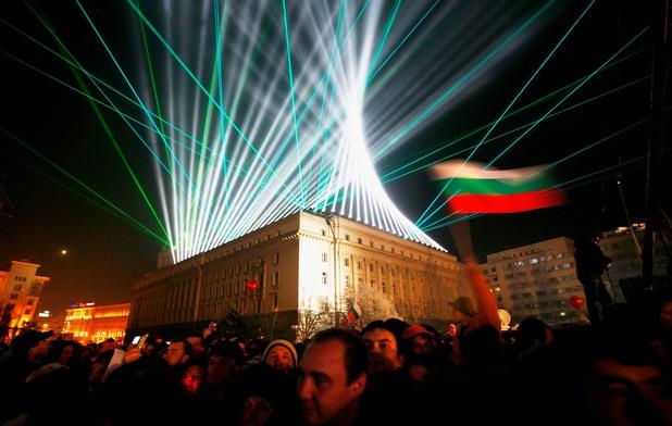 Празнуване на 1 януари 2007 година в София