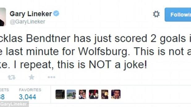Туит Линекер