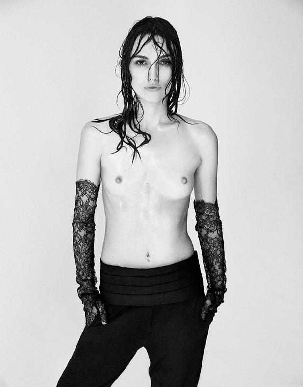 Кийра Найтли протестира срещу използването на Photoshop за коригиране на снимките, показвайки се гола във фотосесия за Interview