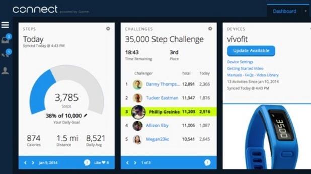 Vivofit app interface